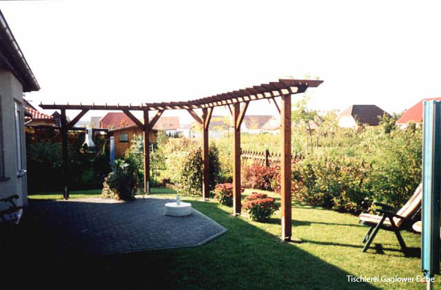 pergola aus holz. Black Bedroom Furniture Sets. Home Design Ideas